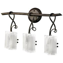 Somerset Wrought Iron Organic Sculpted 3 Light Vanity | Kathy Kuo Home