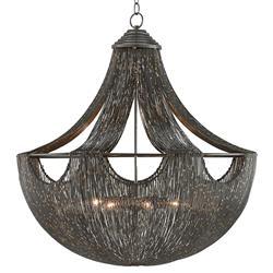 Charisse Regency Gold Fleck Draped Wire Chandelier