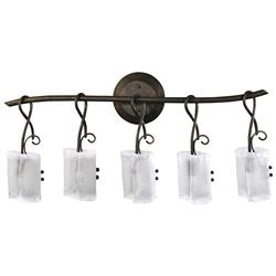 Somerset Wrought Iron Organic Sculpted 5 Light Vanity | Kathy Kuo Home