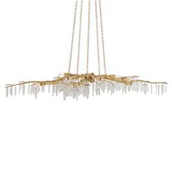 Illia Modern Gold Branch Quartz Stone Chandelier