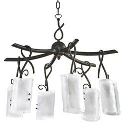 Somerset Wrought Iron Organic Sculpted 6 Light Chandelier | Kathy Kuo Home