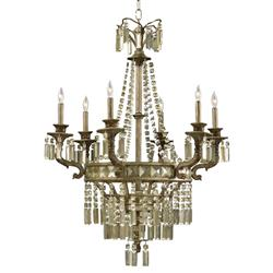 Buckingham Victorian Champagne Crystal 6 Light Chandelier