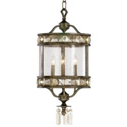 Buckingham Victorian Champagne Crystal 3 Light Entryway Chandelier