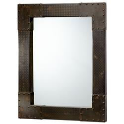 LaSalle Industrial Metal Iron Modern Rectangle Wall Mirror | Kathy Kuo Home