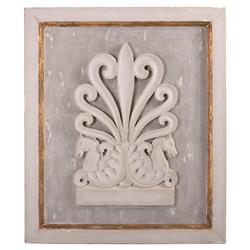 Rustic French Country Gilded Cream Wall Plaque
