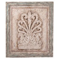 Rustic French Country Distressed Wall Plaque