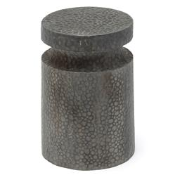 Oly Studio Atlas Hammered Grey Patina Stool