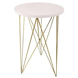 Oly Studio Georgette Cream Antique Gold End Table