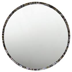 Oly Pearl Round Grey Large Mirror