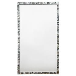 Oly Pearl Rectangular Large Grey Mirror