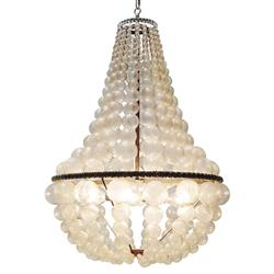 Oly Studio Ariel Bubbled Antique Silver Chandelier