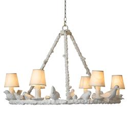 Oly Studio  Frost White Bird Chandelier - 30.75D