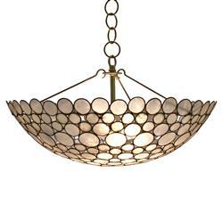 Oly Studio Serena Natural Brass Capiz Bowl Chandelier