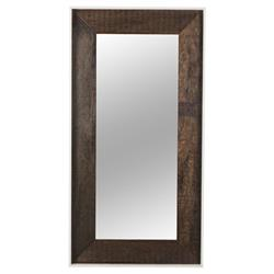 Thomas Bina Cardosa Rustic Modern White Acrylic Peroba Mirror