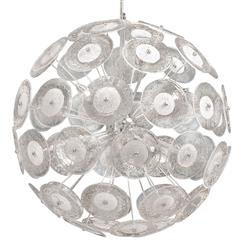 Modern Dandelion Glass Ball 6 Light Pendant Ball Chandelier | Kathy Kuo Home