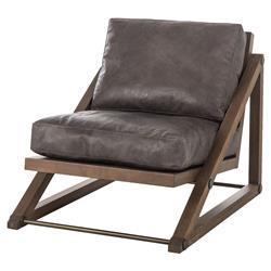Thomas Bina Teddy Lodge Angular Ash Leather Occasional Chair