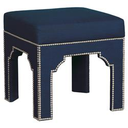 Makai Global Beach Navy Nickel Trim Stool