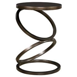 Thom Filicia Solvay Modern Stacked Ring Antique Bronze Side Table