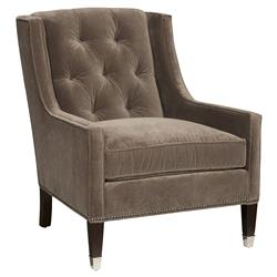 Michael Weiss Flynn Regency Fawn Tufted Velvet Arm Chair