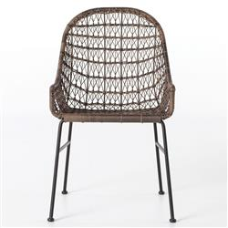 Elani Bazaar Woven Wicker Outdoor Low Armchair - Pair