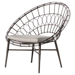 Albin Loft Sunburst Metal Outdoor Lounge Chair