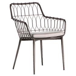 Albin Hairpin Iron Rattan Outdoor Dining Chair