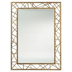 Modern Geometric Web Gold Leaf Mirror