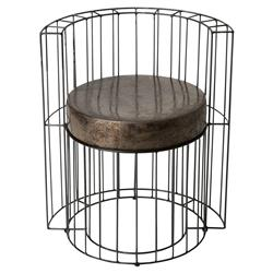 Ian Modern Caged Black Grey Ceramic Outdoor Chair