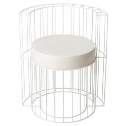 Ian Modern Caged White Ceramic Outdoor Chair