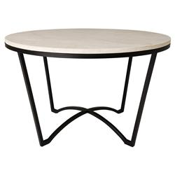 Gwen Loft White Granite Black Outdoor Coffee Table