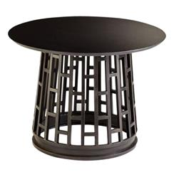 Paulo Raw Steel Modern Entry Pedestal Table