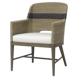 Palecek Fritz Coastal Striped Grey Rope Armchair