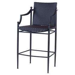 Olivia Black Woven Outdoor Barstool