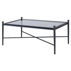 Olivia Four Knob Black Outdoor Coffee Table