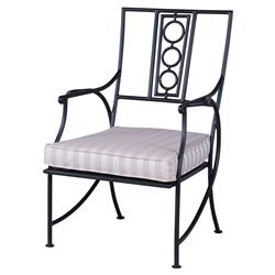Antoine Powder Coated Striped Bistro Outdoor Chair