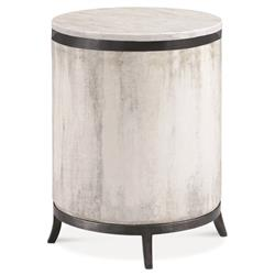 Samson Industrial Round Zinc Concrete Outdoor End Table