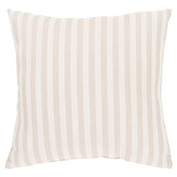 Beach Coastal Beige Striped Outdoor Pillow - 16x16