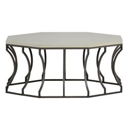 Summer Classics Audrey Grey Travertine Outdoor Coffee Table
