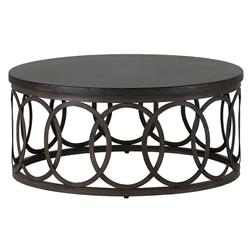 Ella Oval Interlock Black Outdoor Coffee Table