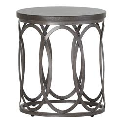 Summer Classics Ella Oval Interlock Black Outdoor End Table