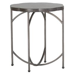 Summer Classics Gillian Floral Black Iron Outdoor End Table