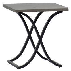 Summer Classics Marco Dove Grey Black Outdoor End Table