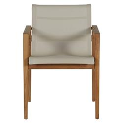 Summer Classics Coast Teak Ivory Canvas Outdoor Armchair
