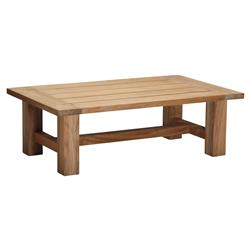 Croquet Natural Teak Wood Outdoor Coffee Table