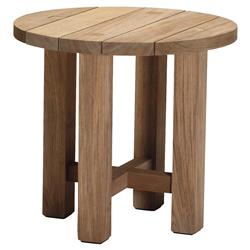 Croquet Natural Teak Wood Outdoor End Table