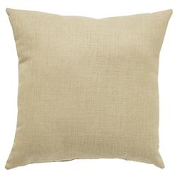 Coastal Modern Beige Outdoor Pillow - 18x18