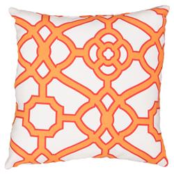 Regency Orange Trellis Outdoor Pillow - 18x18