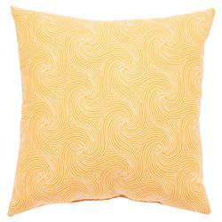 Waves Coastal Modern Orange Outdoor Pillow - 18x18