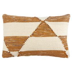 Jaipur Living Coastal Beach Block Geometric Tan Pillow - 16x24