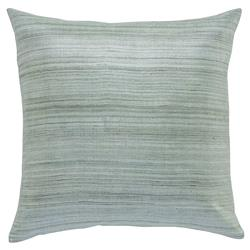 Regency Slate Grey Linear Raw Silk Pillow - 20x20
